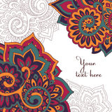 Vector frame pattern of the indian floral ornament Stock Photography