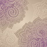 Vector frame pattern of the indian floral ornament Royalty Free Stock Image