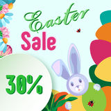 Vector frame for sale for the holiday of Easter. Royalty Free Stock Image