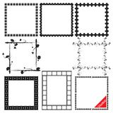 Vector Frame Set ornamental vintage decoration Stock Photos