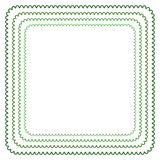 Vector frame in shades of green Stock Photo