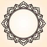 Vector frame in shape of a circle. Ornate element for design. Vi Royalty Free Stock Photos