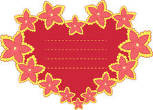 Vector frame in the shape of heart Stock Image