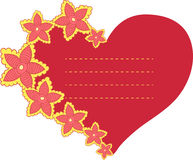 Vector frame in the shape of heart Royalty Free Stock Photos