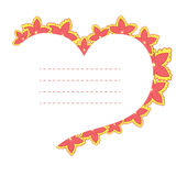 Vector frame in the shape of heart Royalty Free Stock Photo
