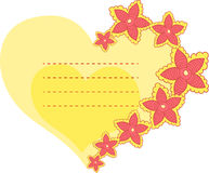 Vector frame in the shape of heart Royalty Free Stock Images