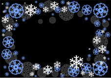 Vector frame from  snowflakes Stock Images