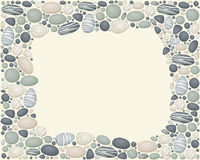 Vector frame with stones. Vector frame with sea/river/ocean stones. Horizontal. Eps 10 royalty free illustration
