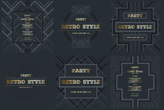 Vector frame for text Modern Art graphics for hipsters. dynamic 3 vector illustration