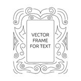 Vector frame for text Royalty Free Stock Images