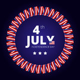 Vector frame to the Independence day of 4th july. Stock Photography