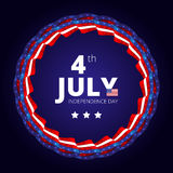 Vector frame to the Independence day of 4th july. Royalty Free Stock Photos