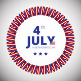 Vector frame to the Independence day of 4th july. Stock Images
