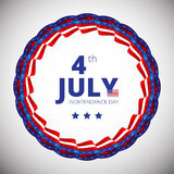 Vector frame to the Independence day of 4th july. Stock Photo