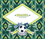 Vector frame with traditional Brazilian football theme Royalty Free Stock Photography