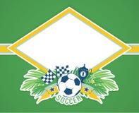 Vector frame with traditional Brazilian football theme Stock Photography