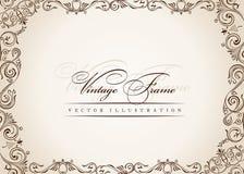 Vector frame. uitstekend antiek bloemendecor Royalty-vrije Stock Foto