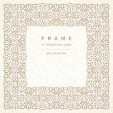 Vector frame in Victorian style. Royalty Free Stock Image