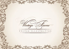 Vector Frame. Vintage Antique Floral Decor Royalty Free Stock Photo