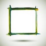 Vector Frame Watercolor. Watercolor green frame. Colorful texture frame. Vector handmade design elements. Vintage frame . Art advertising template. Grunge color Royalty Free Illustration