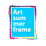 Vector  frame on a white background. Royalty Free Stock Photo