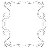 Vector frame on white background. Hand drawing Royalty Free Stock Photography