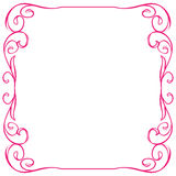 Vector frame on white background. Hand drawing Royalty Free Stock Images