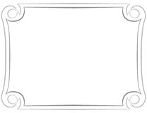 Vector frame on a white background Stock Images