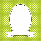 Vector frame with white polka dots on green background Royalty Free Stock Photos