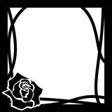 Vector frame whith rose Royalty Free Stock Images