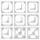Vector frames borders art deco style Royalty Free Stock Images