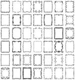 Vector Frames and Borders Collection Set. A collection of over 40 unique, hand-drawn borders and frames design elements vector illustration