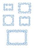 Vector frames desenhados mão Imagens de Stock Royalty Free