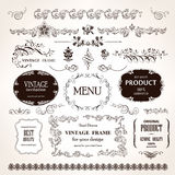 Vector frames and design calligraphic elements set Royalty Free Stock Image