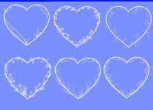 Vector frames heart shaped Royalty Free Stock Photos