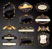 Vector frames and ornamental labels set Stock Image