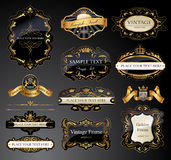 Vector frames and ornamental labels set Royalty Free Stock Photos