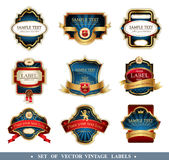 Vector frames and ornamental labels Royalty Free Stock Photos