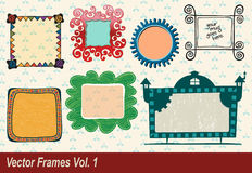 Vector Frames Royalty Free Stock Photography