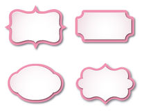 Vector frames. Pink vector frames with shadows Vector Illustration