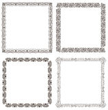 Vector frames set. Ornate and vintage design Royalty Free Stock Images