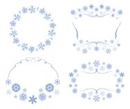 Vector frames with snowflakes - decorations for christmas. Vector frames with snowflakes - decorations  for christmas Stock Image
