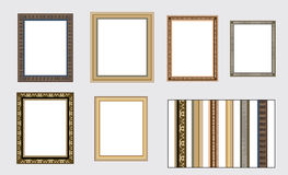 Vector frames on the wall Stock Image