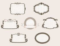 Vector framework set. Ornate and vintage decor elements Stock Photography