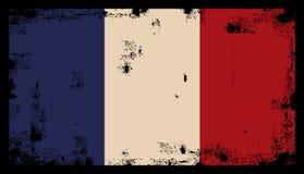Vector francés de la bandera del grunge Imagenes de archivo