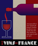 Vector france wine poster or label Royalty Free Stock Photo