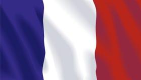 Vector Franse Vlag royalty-vrije illustratie