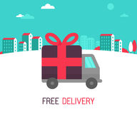 Vector free delivery concept in flat style Stock Images