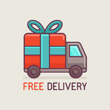 Vector free delivery concept in flat style Royalty Free Stock Photography
