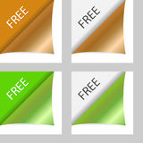 Vector free peeling corners Royalty Free Stock Photo